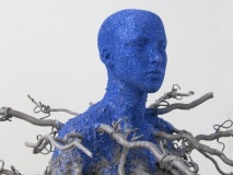 Mother Spirit of the Baobab ( Close-up view) | Mannequin, Native Soil, Exterior Acrylic paint and wood | 72x33