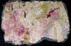 OUSIE  |  Hand-Embellished Collagraph & Mixed Media on Paper  |  42x72