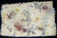 Kwela Man     Hand-Embellished Collagraph & Mixed Media on Hand-Made Paper    42 x 72