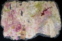 OUSIE     Hand-Embellished Collagraph & Mixed Media on Paper     42x72