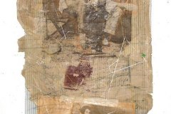 Hand-Embellished Photo print, Collage, Needlework & Acrylic on Paper & Cotton with wire & wood | 45.5x16.5