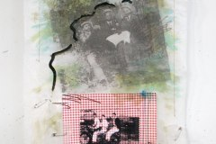 L'Chaim rides again | Hand-Embellished Photo print, Collage, Needlework & Acrylic on Cotton, wire & wood |