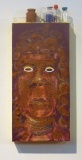 Witchdoctor #2 | South African Soil, Acrylic & Botox Bottles on Canvas | 14 x 6