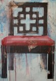 Store wide Clearance | Chair #1 | Acrylic & Mixed Media on Canvas|  36x24