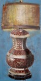 Store wide Clearance | Lamp #2 | Acrylic & Mixed Media on Canvas|  24x16