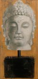 Store wide Clearance | Porcelain Buddha #1 | Acrylic & Mixed Media on Canvas|  36x16